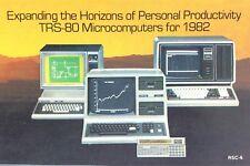 Vintage 1981 Radio Shack TRS-80 Microcomputers 1982 Product RSC-6 Catalog I550