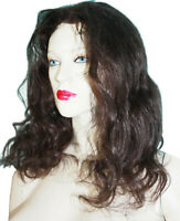 Human Hair Lace Thin Skin Wig Wigs Indian Remi Remy Darkest Brown Body Wave #2