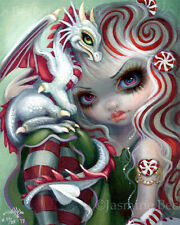 Peppermint Dragonling Jasmine Becket-Griffith CANVAS PRINT dragon fairy CUTE art