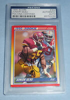 JR Junior Seau Signed 1990 Score Rookie Football Card 302 PSA/DNA COA RC Charger