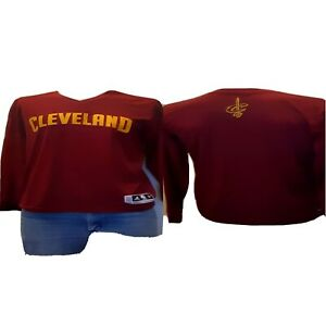 ADIDAS Men's Red Long Sleeve Top NBA Cavaliers Size M 40 X 30