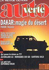 Auto verte   N°116   jan 1991 : Dakar magie du desert