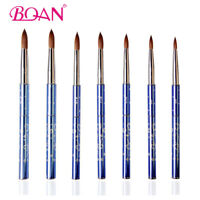 BQAN 1Pc Acrylic Nail Art Brush Tool Kolinsky Sable Hair Metal Handle Nail Care