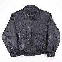 Vintage LEGACY Black Real Genuine Leather Bikler Jacket Mens Size 3XL
