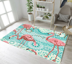 Abstract Floral Tropical Flamingo Pattern Area Rugs Living Room Floor Mat Carpet