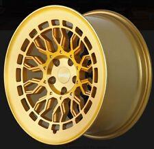 19X8.5 Radi8 A10 5x112 +45 Gold Brush Wheels Fits VW jetta (MKV,MKVI) Passat B6