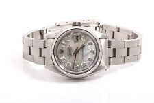 Rolex Ladies SS Datejust - Mother Of Pearl Diamond Dial - Oyster Band