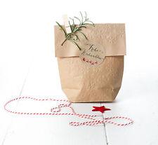 """12 runde Kraftpapier Papier Sticker """"Frohe Weihnachten"""" Aufkleber XMAS 6 cm"""