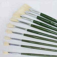 9pcs/set drawing paints Long rod bristles Fan-shaped oil painting pen brush
