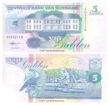 Suriname 5 Gulden 1998 P-136b Banknotes UNC