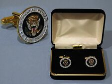 Ronald Reagan Camp David Presidential Seal Cufflinks 24k gold plated Authentic