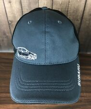 Subaru Impreza Black & Gray Mens Strapback Hat Ball Cap