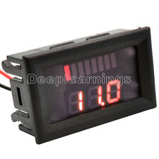 LED Indicator Battery Capacity Tester Voltmeter 12V Lead-acid Lithium Red