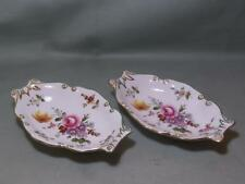 2 Royal Crown Derby Derby Posies Oval Tray Trinket Dishes (Lot B Red B/Stamp)