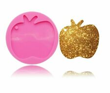 Shiny Apple Silicone Mold keychain Pendant Jewelry Making DIY Resin Craft Mould