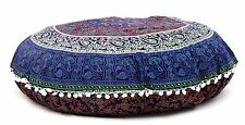 "32"" MANDALA DECORATIVE ROUND FLOOR CUSHION PILLOW POUF COVER INDIAN ART BOHEMIAN"