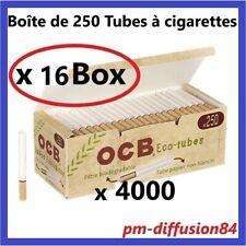 4000 TUBES à Cigarettes avec Filtres OCB BIODEGRADABLES - 16 Boîtes de 250 Tubes