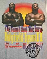 ORIGINAL 1997 MGM  HOLYFIELD MIKE TYSON 2 Boxing Shirt BITE FIGHT Sound & Fury
