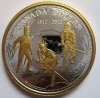 2012 CANADA 200th ANN OF WAR OF 1812 PROOF 99.99% SILVER DOLLAR COIN
