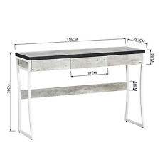 Laptop Table Console Table Computer Desk Hallway Office Storage Cement Color New