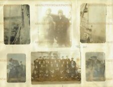 WW1 PHOTO MERCHANT VESSEL ? ICED UP IN THE NORTH SEA ? VINTAGE ALBUM PAGE 1917