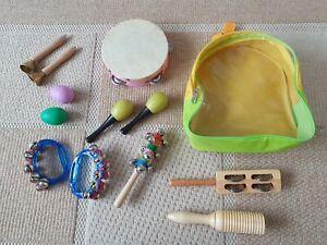Musik Instrumente Kinder Rucksack 13Teile Trommel Musikrucksack Spielzeug