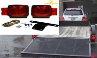Red White Stop Trailer Light Kit 12V Turn Tail Truck License Boat Brake