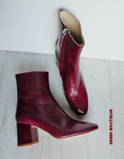 ZARA LEATHER  ANKLE BOOTS BLOCK HEEL EUR 36 / UK 3 / USA 6