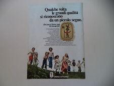 advertising Pubblicità 1976 OMINO DI FERRO