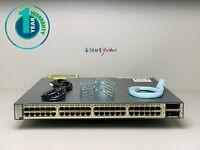CISCO WS-C3750E-48PD-SF • 48 Port PoE 10Gbps 3750E Gigabit Switch ■1YR WARRANTY■