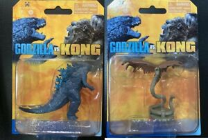 Unreleased Playmates Godzilla VS Kong mini monster 5cm Godzilla Warbat Set