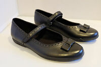 Clarks Girls Shoes NO BREEZE Black Leather Mary Jane School Various Sizes