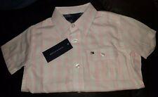 Tommy Hilfiger Kids Boys Short Sleeve Shirt Size 5 NWT Crystal Rose MSRP $35.50
