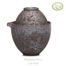 150ml 5.1oz Wood-Fired Teacup Hemp Rope Ceramic Gaiwan Gongfu Tea Travel Set
