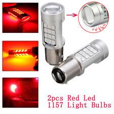 2PCS Auto Universal 1157 LED Red Flash Strobe Alert Brake Tail Stop Light Bulb