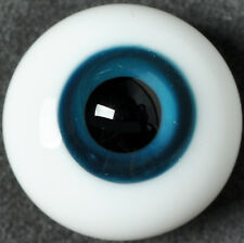 Good Deep Blue Iris&Black Pupil 16mm Glass Eyes for Joint Reborn 1/4BJD Dollfie