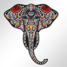 funny car bumper sticker sugar skull elephant day of the dead Ganesh 96 mm decal