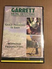 Gold Panning is Easy & Weekend Prospecting -2 videos- Garrett Instructional Dvd