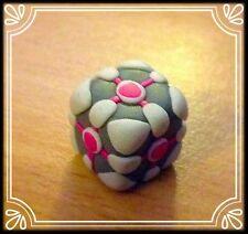 ** companion cube-charme porte-clés handmade portail mignon mascotte **