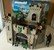 PLAYMOBIL WOLF KNIGHTS CASTLE MEDIEVAL SET 6002 BOXED WITH KNIGHT FIGURES XMAS