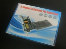 6-Channel 5.1 Surround Sound PCI Sound Card