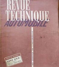 Revue technique FORD 1952 1953 6 et 8 CYL RTA 92 1953 TRACTEUR FERGUSON TEA TEF
