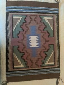 "Vintage Navajo Rug 22"" X 15"""