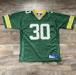 Green Bay Packers NFL Football #30 Ahman Green Jersey Mens Size L Reebok!