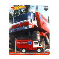 "Hot Wheels FPY86-GJP90 Mercedes Unimog U1300 ""Paramedic"" - Car Culture 1:64 NEU°"