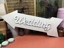WOODEN WEDDING ARROW SET SIGN Shapes 34cm (x1) laser cut wood crafts blank shape