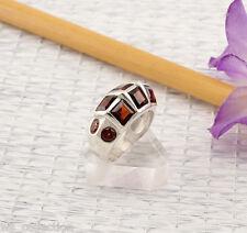 Granat Ring Sterlingsilber/925 Facettiert Rot Grösse 55 (17,5mmØ) NEU