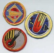 Set of 3 Babylon 5 Embroidered Squadron Patches: Comet, Delta, Split World