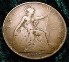 1917 GEORGIVS V KING GEORGE UK GREAT BRITAIN PENNY