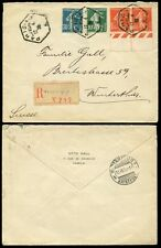 Enregistré FRANCE 1926 PARIS hexagonals + SEMEUSE 1F05 marginaux